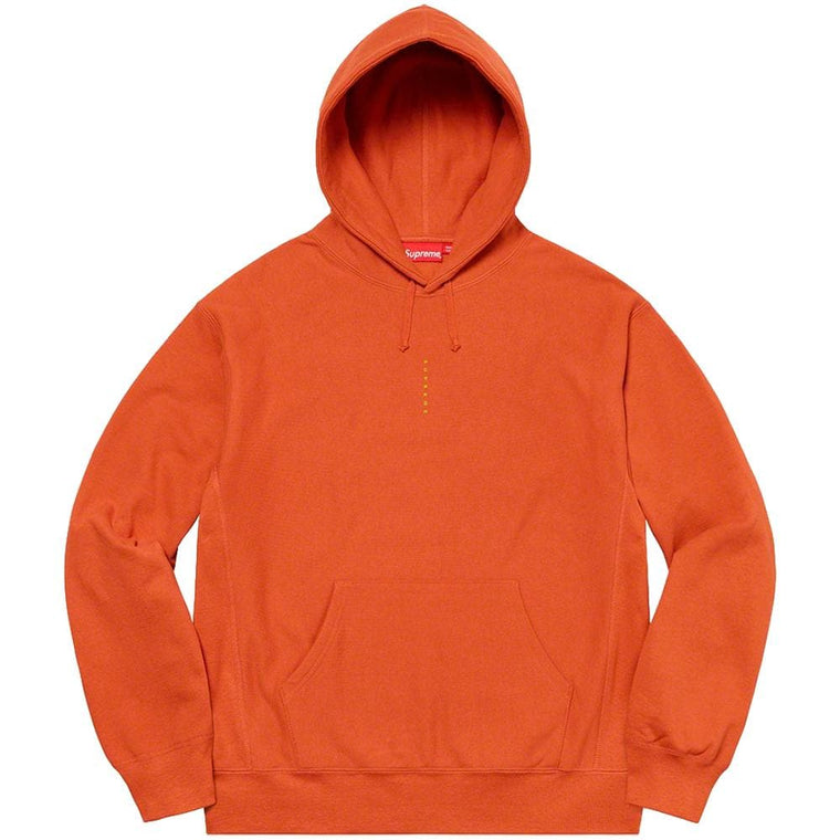 SUPREME MICRO LOGO HOODED SWEATSHIRT-ORANGE