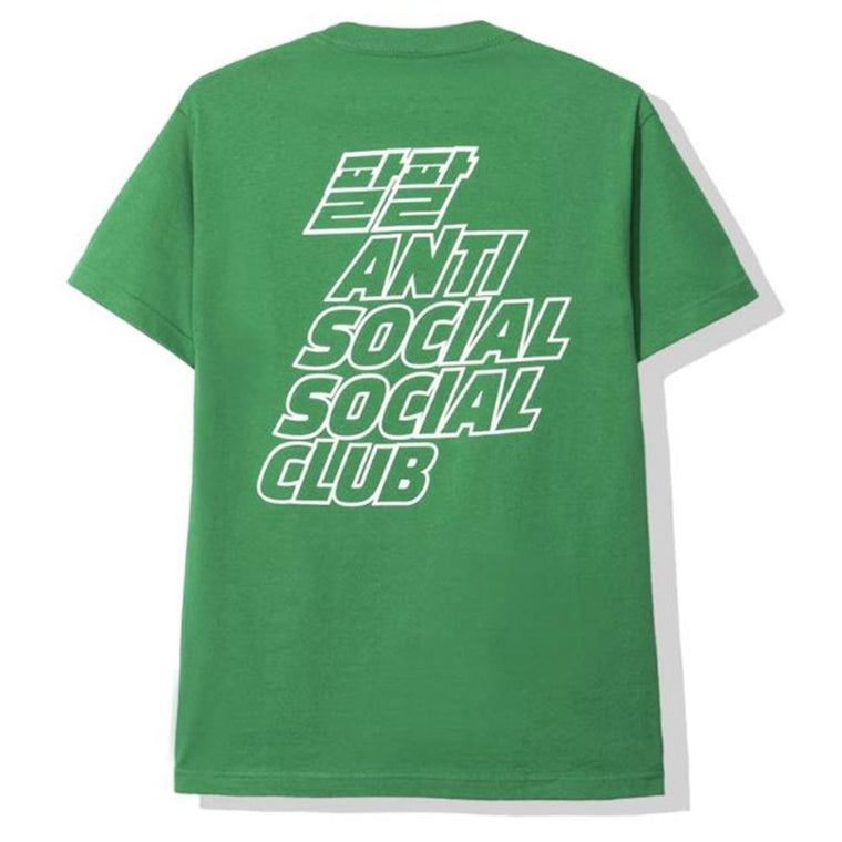 AntiSocialSocialClub MIDNIGHT CLUB GREEN TEE -GREEN