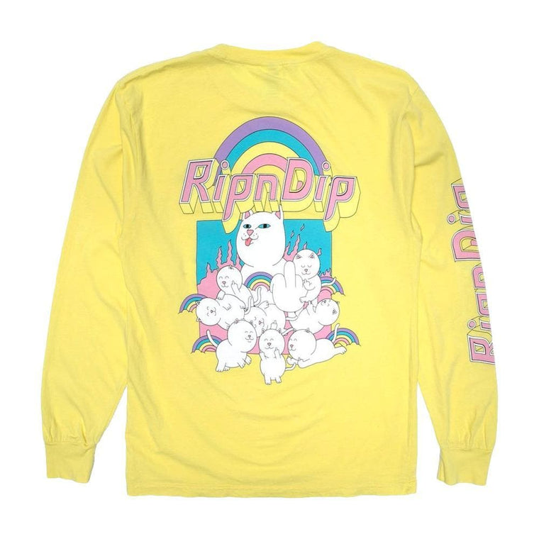 RipNDip MINIONS LONG SLEEVE-YELLOW
