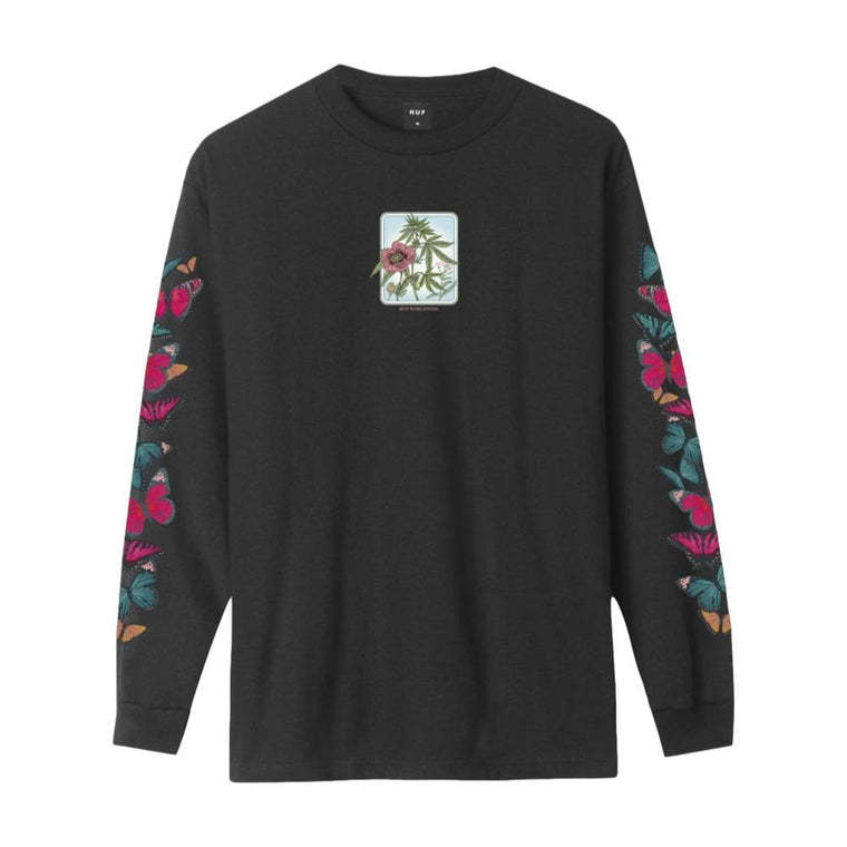 HUF MONARCH L/S TEE-BLACK