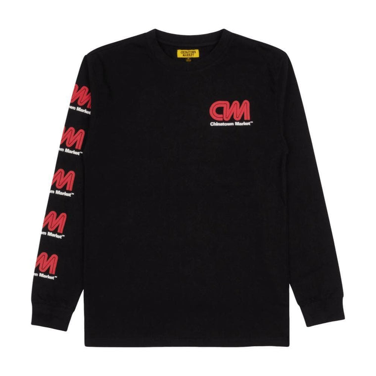 CHINA TOWN MARKET MOST TRUSTED LONG SLEEVE -BLACK
