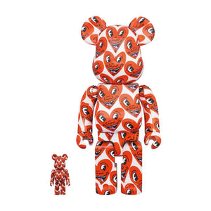 Medicom Toy BE@RBRICK KEITH HARING VER 6 100% & 400% SET-RED
