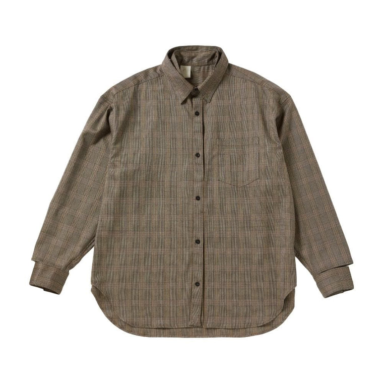 N.HOOLYWOOD CHECKER SHIRT-BURGUNDY
