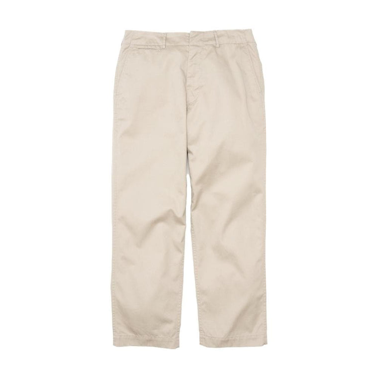 Nanamica WIDE CHINO PANTS-CREAM