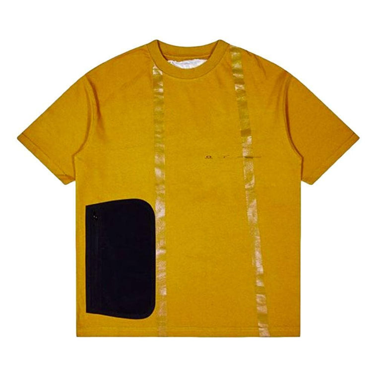 OAKLEY SIDE POCKET SHORT SLEEVE -MUSTARD