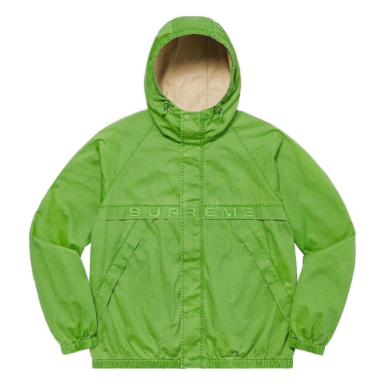 SUPREME OVERDYED TWILL HOODED JK-GREEN