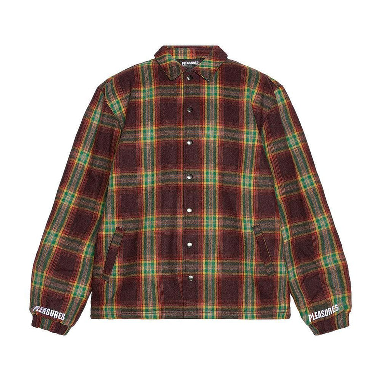 PLEASURES PARADOX HEAVYWEIGHT COACHES JACKET-RED