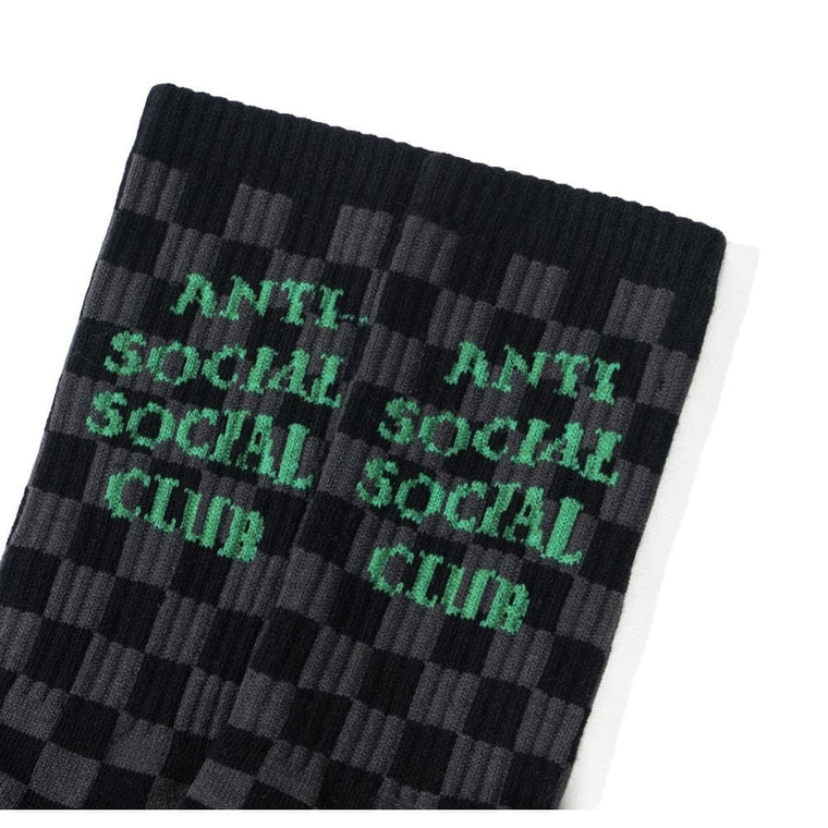 AntiSocialSocialClub PHOTO BOOTH BLACK SOCKS-BLACK