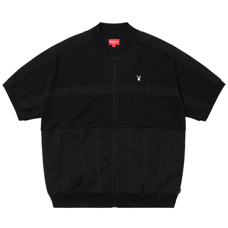 SUPREME PLAYBOY? LEISURE ZP UP TP -BLACK