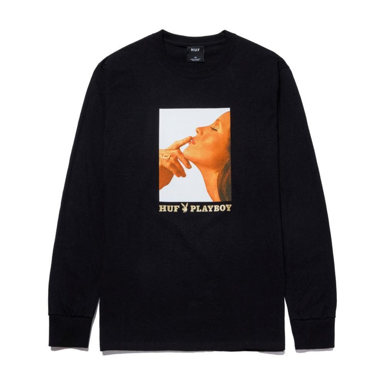 HUF PLAYBOY LUST FOR LIFE L/S TEE-BLACK