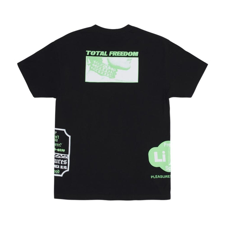 PLEASURES FREE LIFE T-SHIRT-BLACK