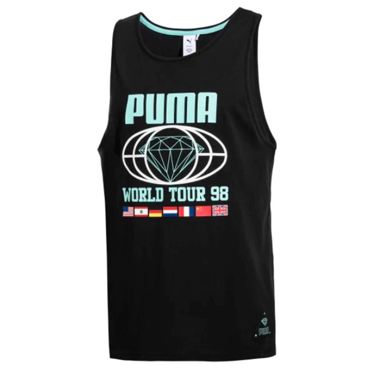 PUMA PUMA X DIAMOND TANK -BLACK