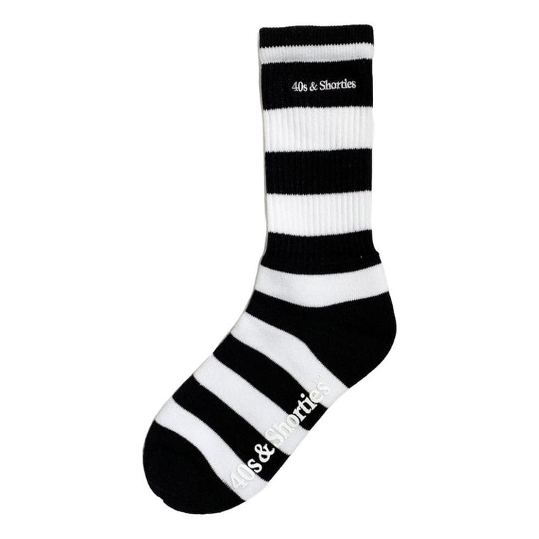40'S AND SHORTIES REGULATION SOCKS -WHITE/BLACK
