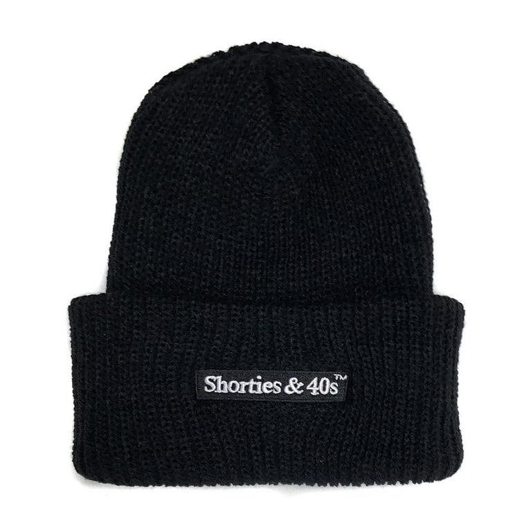 40'S AND SHORTIES REVERSE TEXT LOGO BEANIE -BLACK