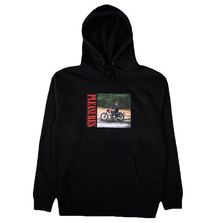 PLEASURES RIDE HOODY -BLACK