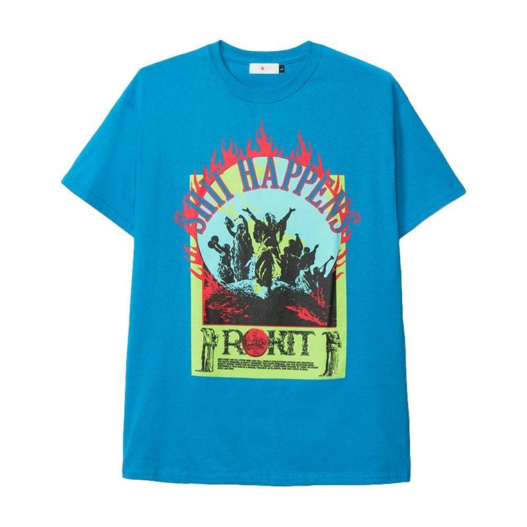 Rokit ROCK & SUN TEE -BLUE