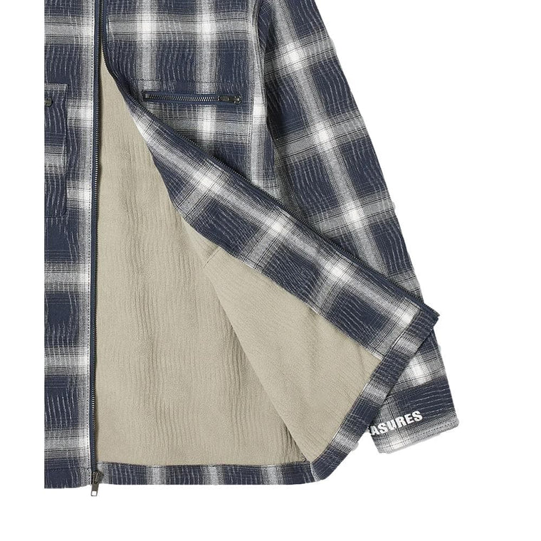 PLEASURES SABBATH PLAID OVERSHIRT-BLUE