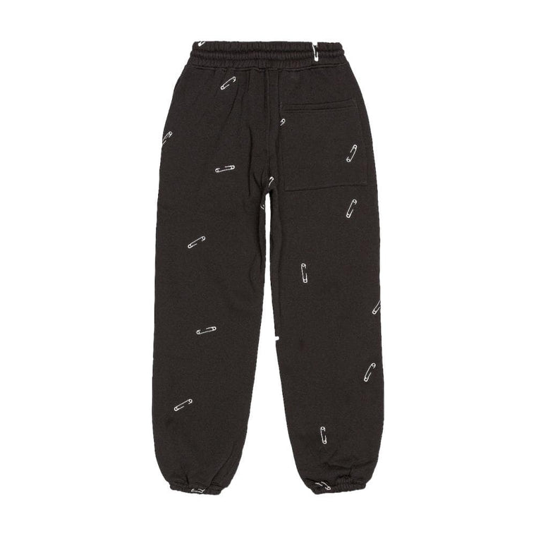 PLEASURES SAFETY EMBROIDERED SWEAT PANT-BLACK