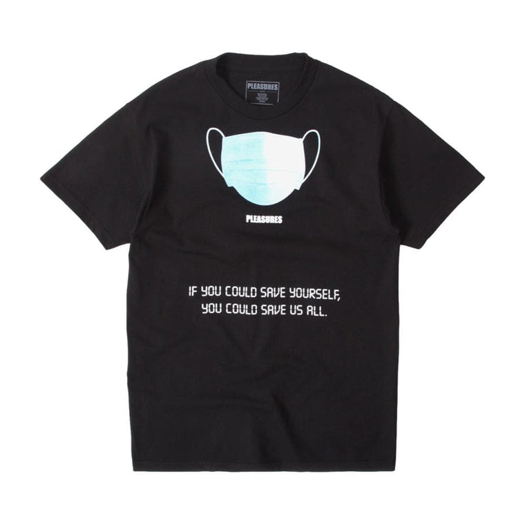 PLEASURES SAVE YOURSELF T-SHIRT-BLACK