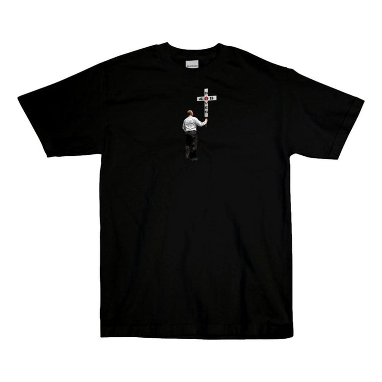 40'S AND SHORTIES SAVIOR TEE -BLACK