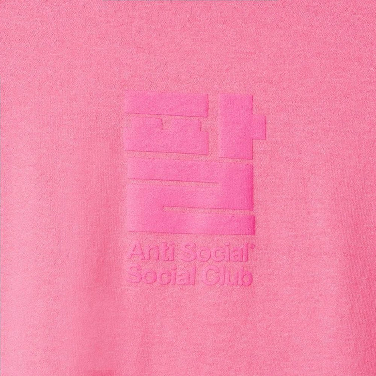 AntiSocialSocialClub SESAME OIL PINK L/S TEE -PINK