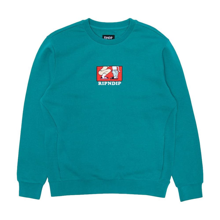 RipNDip LOVE IS BLIND CREW SWEATER-TEAL