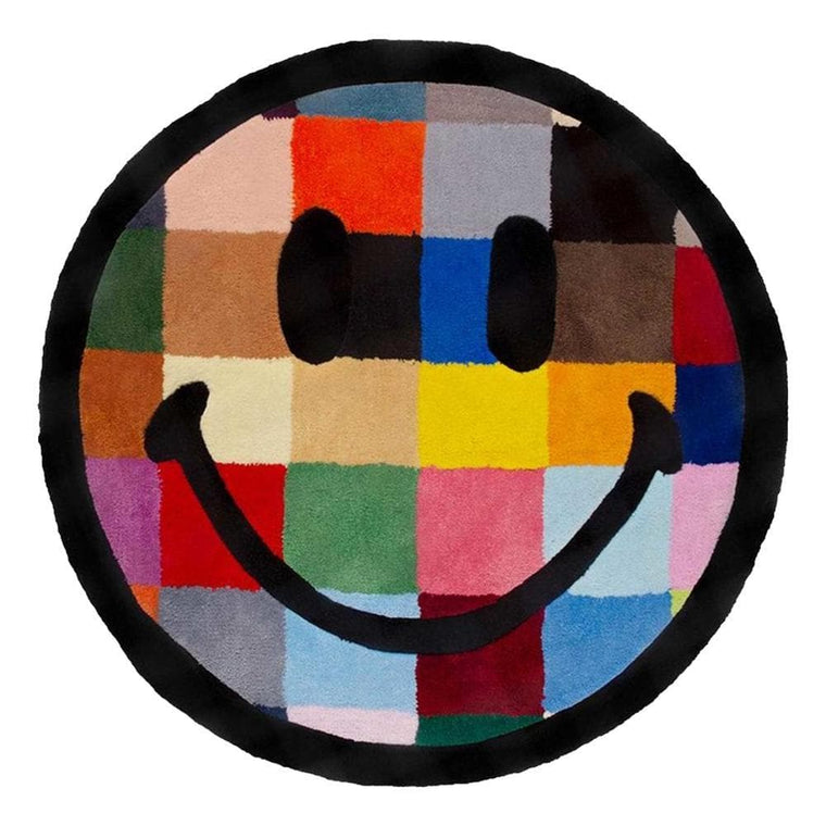 CHINA TOWN MARKET SMILEY COLOR TILE RUG 4FT-MULTI