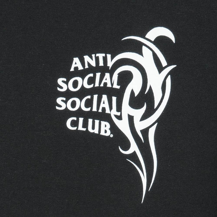 AntiSocialSocialClub SUNNY SIDE BLACK HOODIE -BLACK