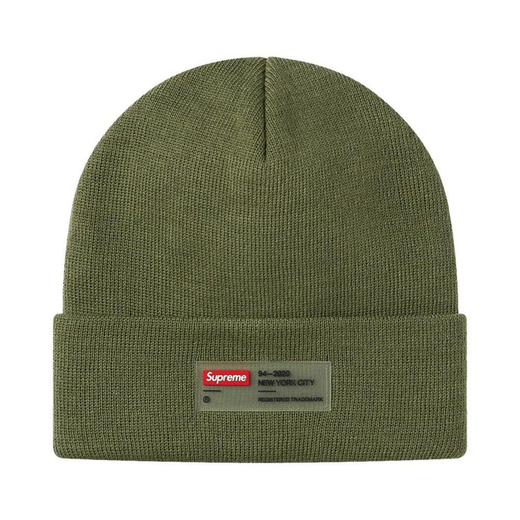 SUPREME CLEAR LABEL BEANIE-OLIVE