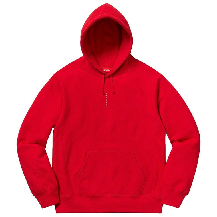 SUPREME MICRO LOGO HOODED SWEATSHIRT-RED