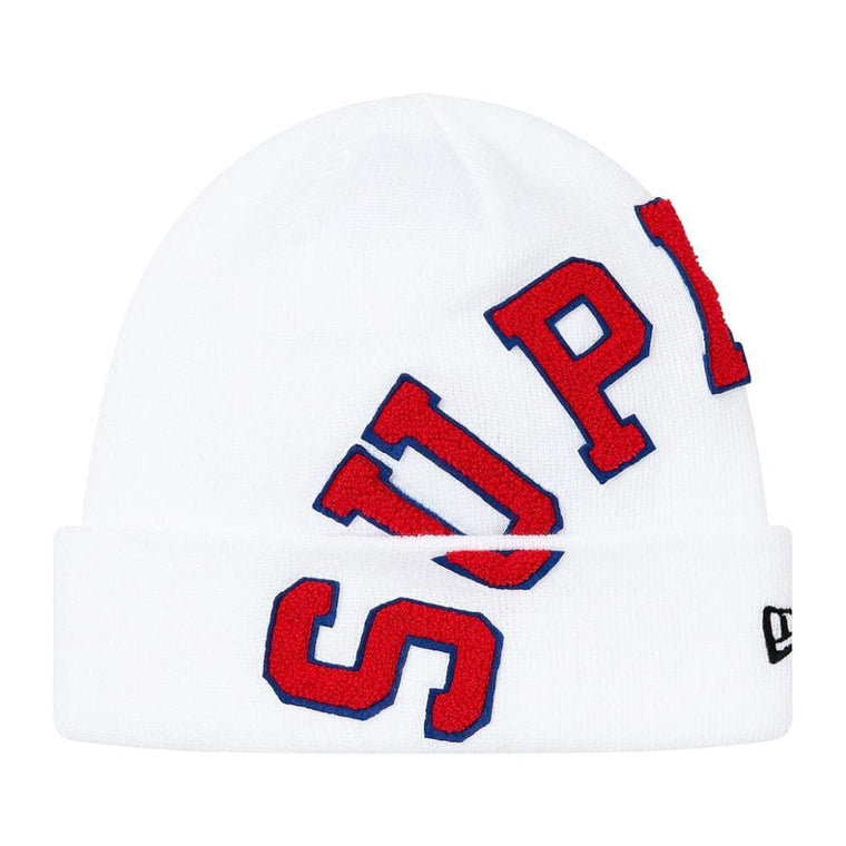 SUPREME NEW ERA BIG ARC BEANIE-WHITE