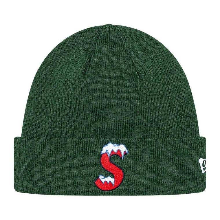 SUPREME NEW ERA? S LOGO BEANIE-GREEN