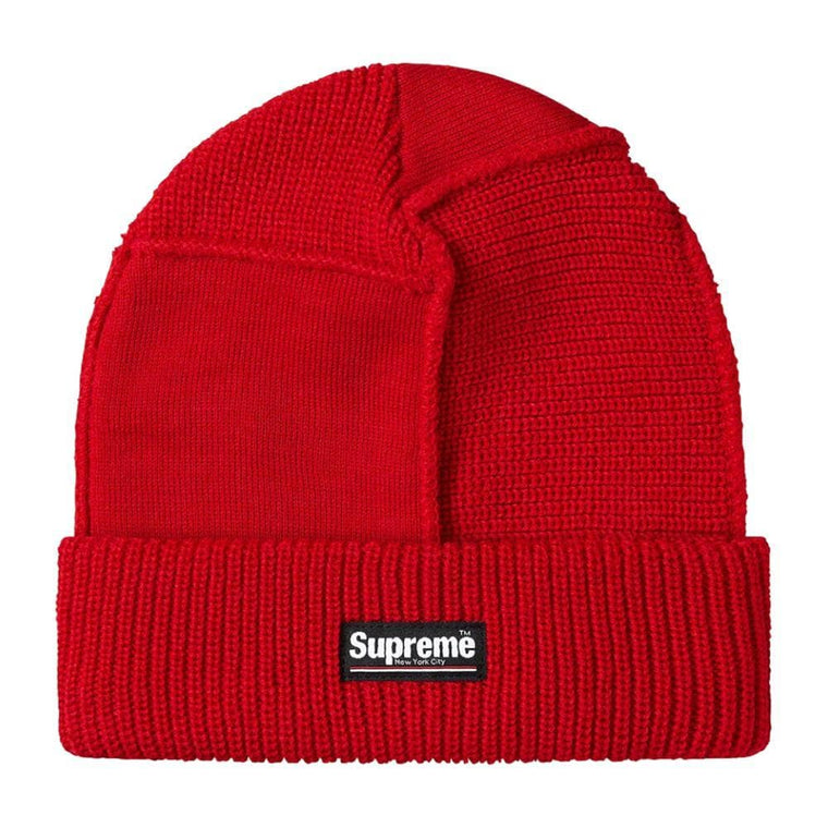 SUPREME PANELED SEAM BEANIE-RED