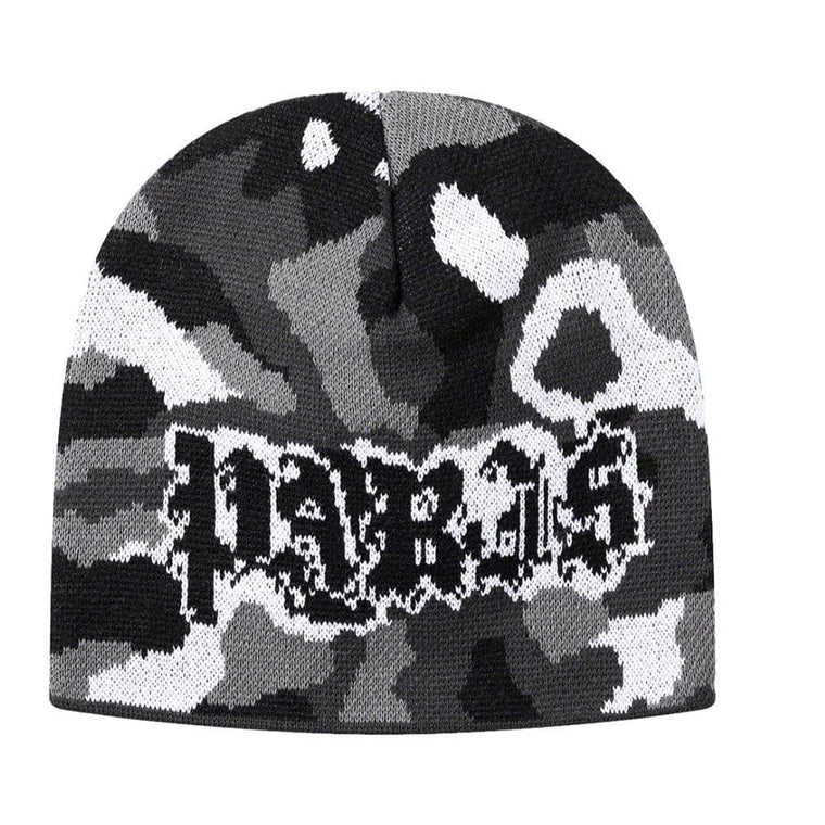 SUPREME PARIS CAMO BEANIE-BLACK