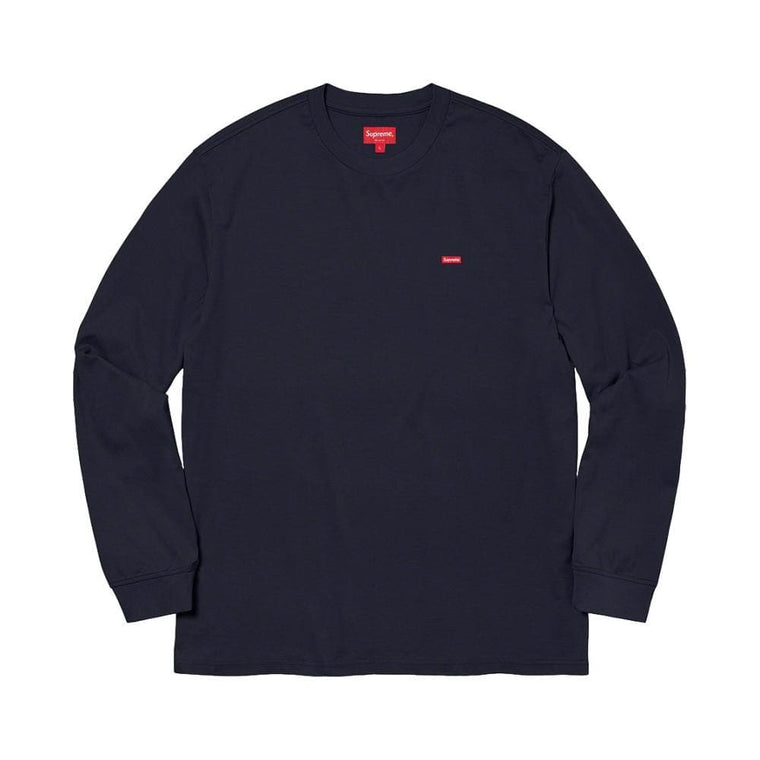 SUPREME SMALL BOX L/S TEE-NAVY