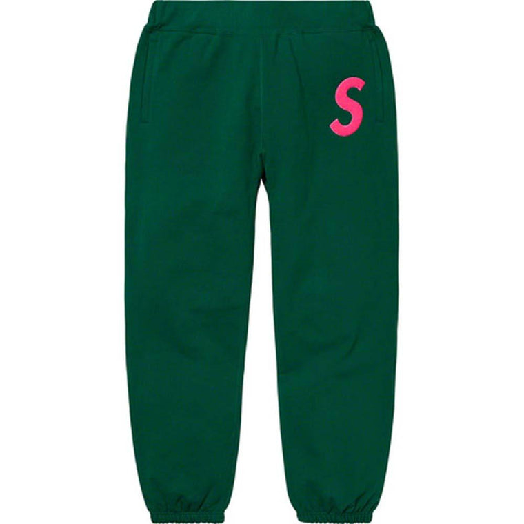 SUPREME S LOGO SWEATPANT -GREEN