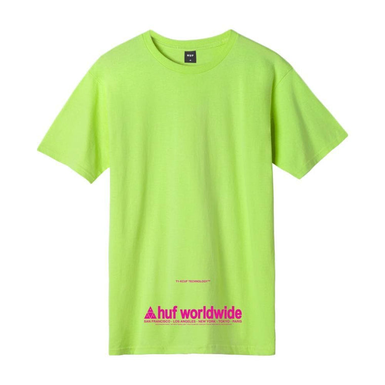 HUF TAKING CONTROL S/S TEE -LIME