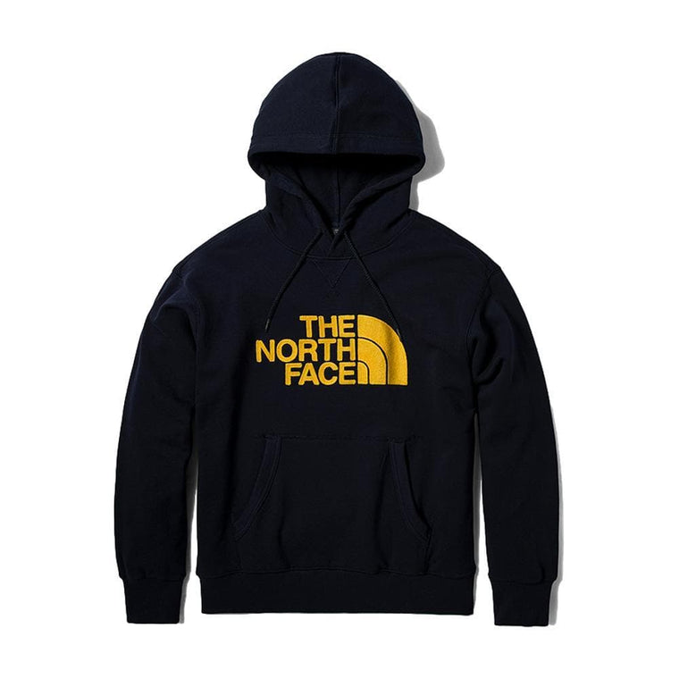 THE NORTH FACE THROWBACK EMBROIDERED PULLOVER HOODIE-NAVY