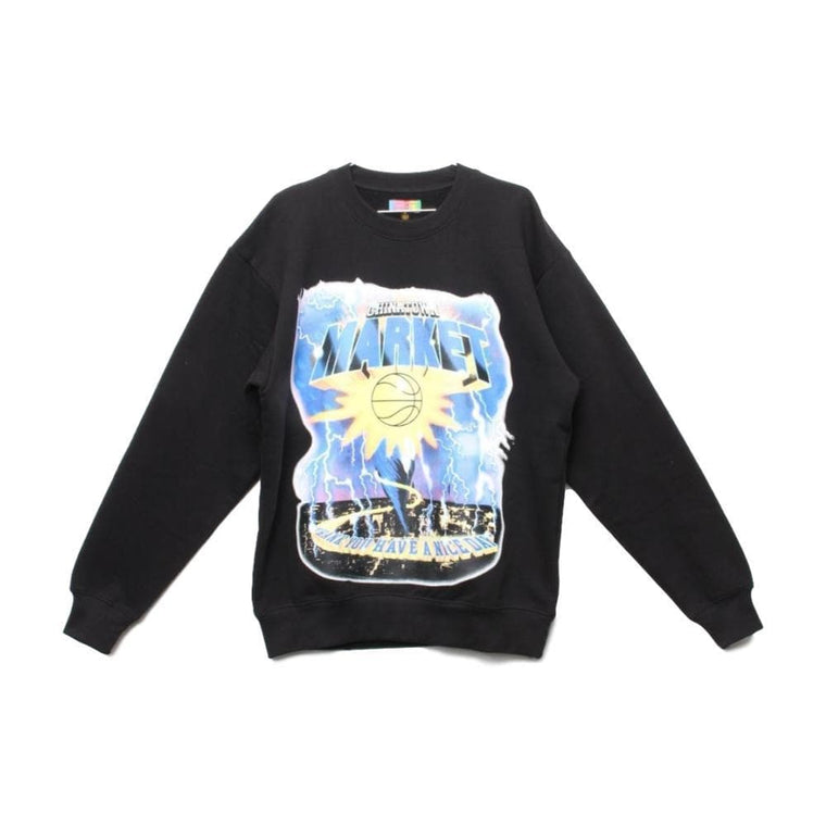 CHINA TOWN MARKET TORNADO CREWNECK-BLACK