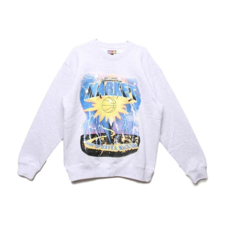 CHINA TOWN MARKET TORNADO CREWNECK-GREY