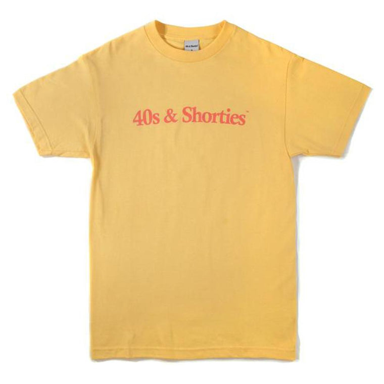 40'S AND SHORTIES TEXT LOGO TEE -YELLOW