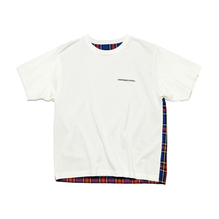 UNIFORM EXPERIMENT BACK PANELED WIDE TEE-WHITE