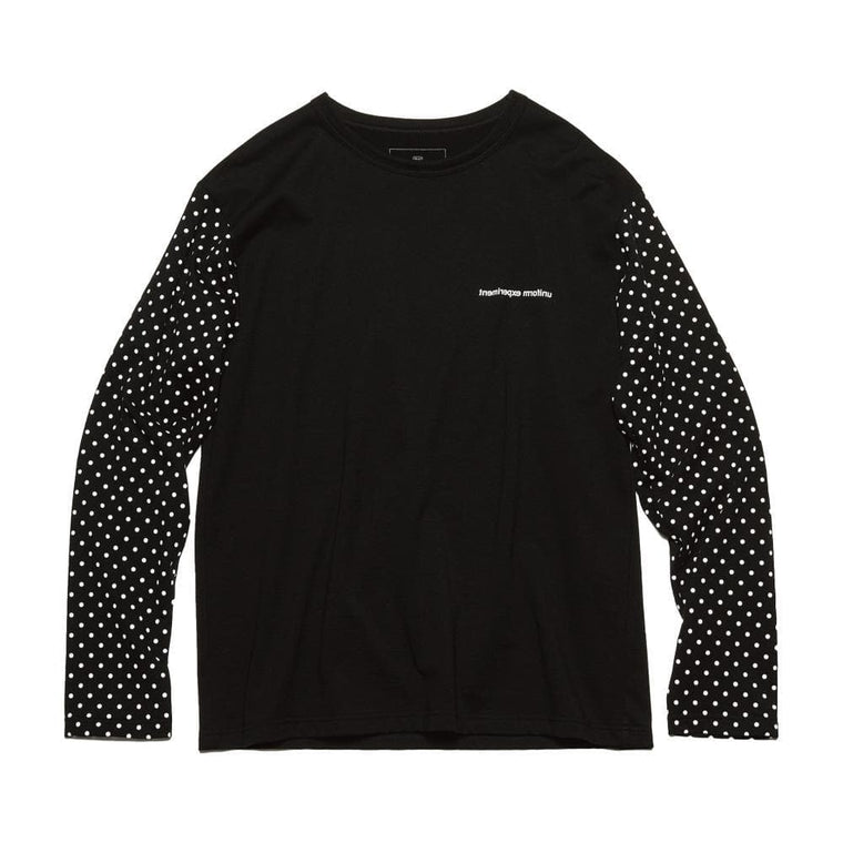 UNIFORM EXPERIMENT L/S DOT SLEEVE TEE-BLACK