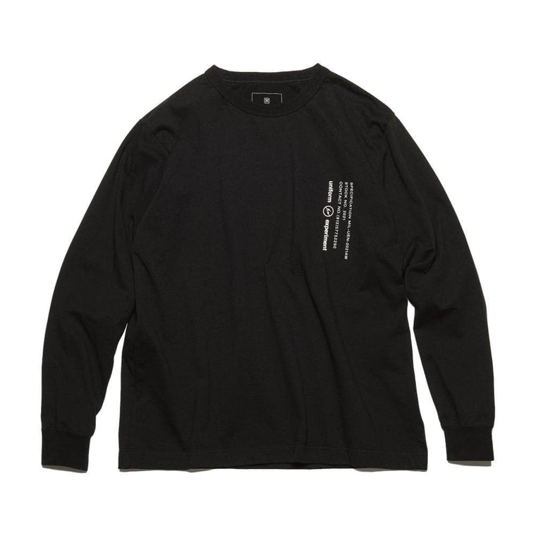 UNIFORM EXPERIMENT L/S WIDE MIL TEE-BLACK