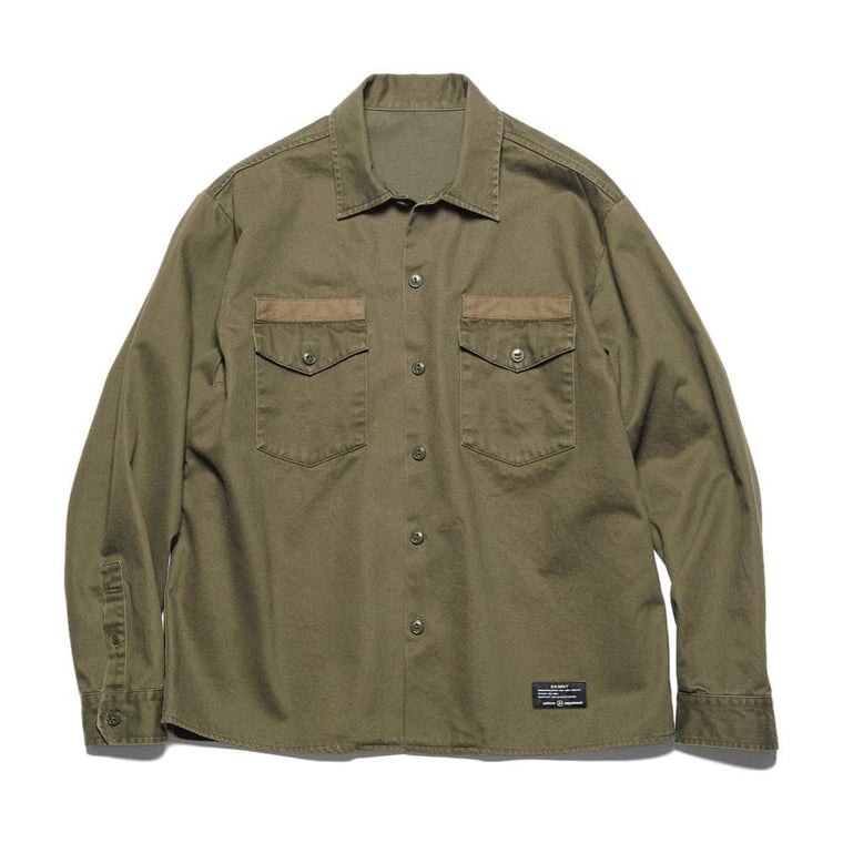 UNIFORM EXPERIMENT MIL DOUBLE POCKET SHIRT-KHAKI