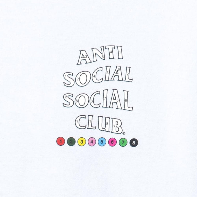 AntiSocialSocialClub UP TO YOU WHITE TEE-WHITE