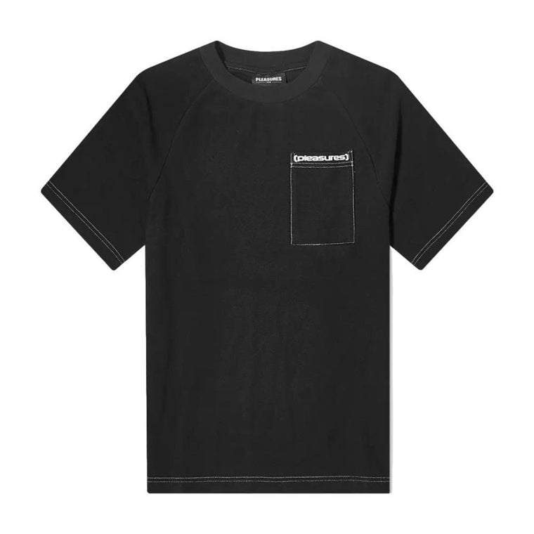 PLEASURES VULGAR RAGLAN SHIRT-BLACK