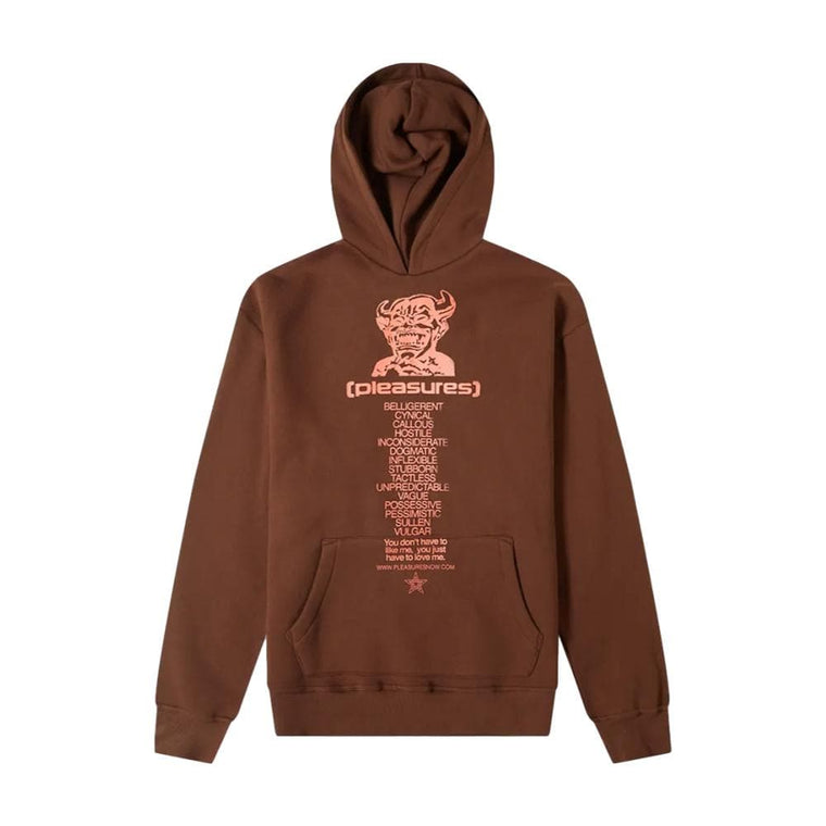 PLEASURES VULGAR HOODY-BROWN