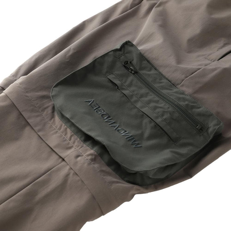 WIND AND SEA WDS UTILITY ZIP-OFF CARGO PT-CHARCOAL