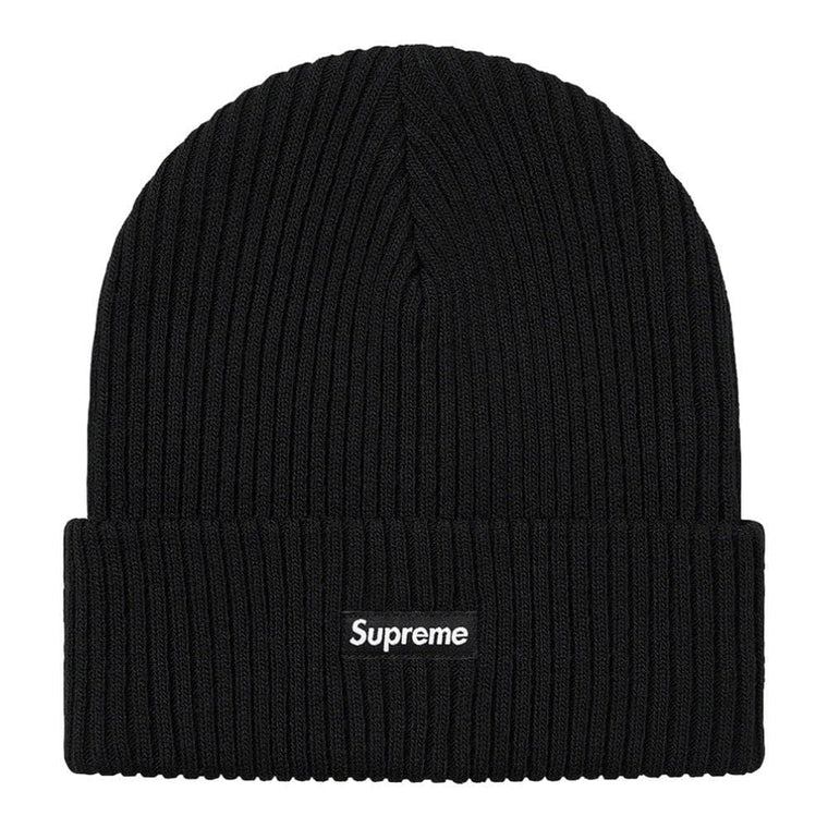 SUPREME WIDE RIB BEANIE-BLACK